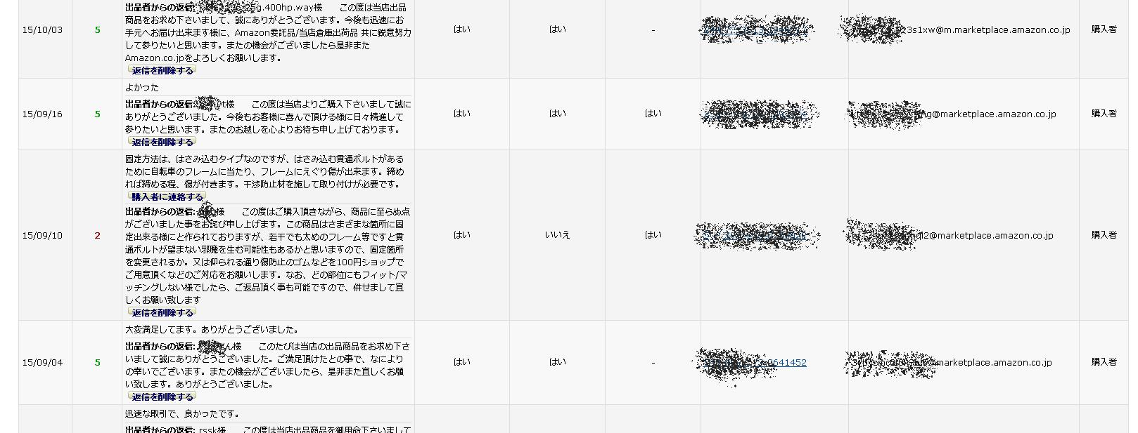 アマゾンセラセン 評価削除依頼2